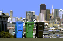 S.F.'s mandatory recycling & compost program & their non-promoted elevated pick up service
